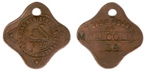 Mt. Malcolm Dog Tag 1917, Registration No. 34