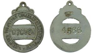 Ugy Men's Assoc membership badge