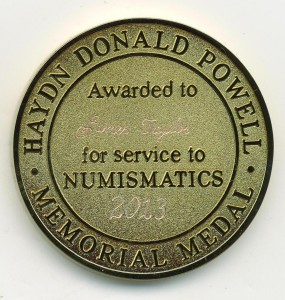 HDP Memorial Medal James Taylor 2013