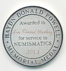 HDP Memorial Medal Jan Hosking 2013
