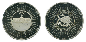Perth Mint Calendar medal 1992