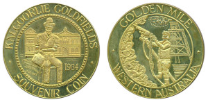 WA Souvenir coin 1984 Kalgoorlie brass