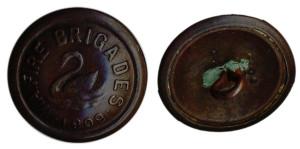 WA Fire Brigades button 1909 Bronze