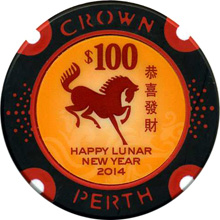 Crown Perth $100 Lunar New Year 2014