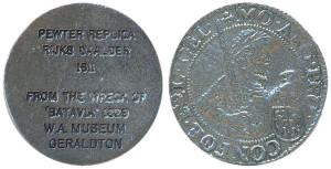 WA Museum Geraldton 1611 Rijksdaalder Replica