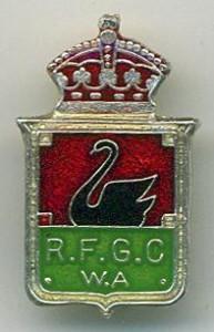 Royal Fremantle Golf Club monthly badge