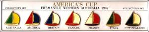 America's Cup 1987 souvenir clutch badges (Obv)