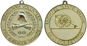Mandurah VFRS- Michael White medal(Gilt)