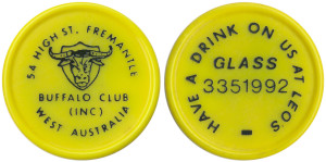 Fremantle Buffalo Club drink token