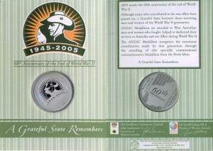 ANZAC 1945-2005 Perth Mint (in card) email