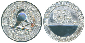 W.A. Volunteer Fire & Rescue Services Association championships bright silvered 46mm
