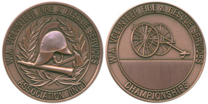 W.A. Volunteer Fire & Rescue Services Association championships bronzed 46mm