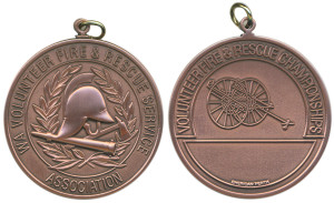 W.A. Volunteer Fire & Rescue Services Association championships bronzed 51mm