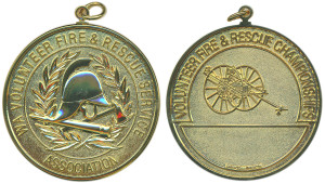 W.A. Volunteer Fire & Rescue Services Association championships gilded 51mm