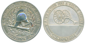 W.A. Volunteer Fire & Rescue Services Association championships silvered 51mm